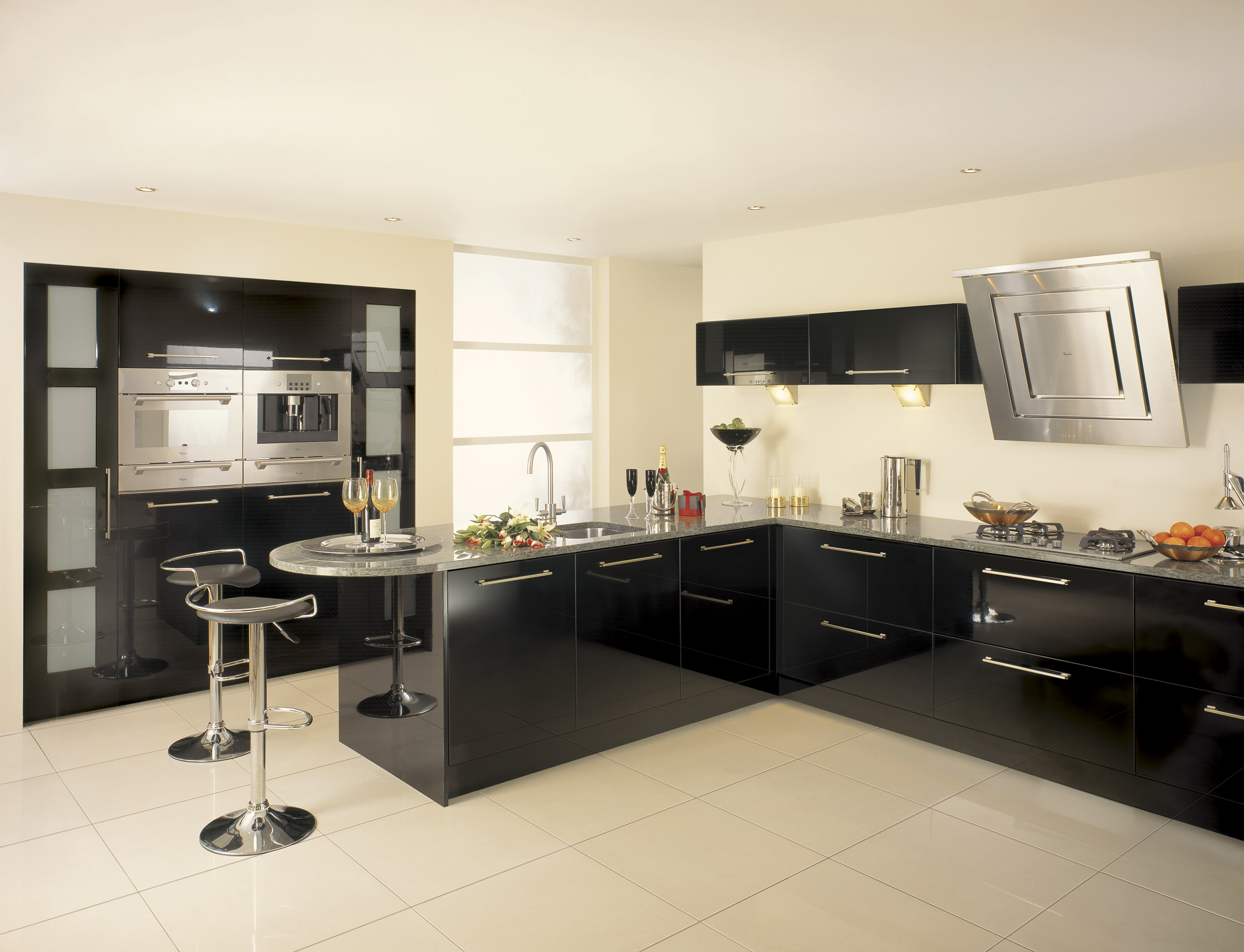 Fitted kitchens midland furniture company for Kitchen designs black